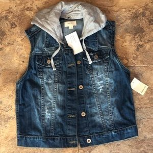 NWT denim vest with good